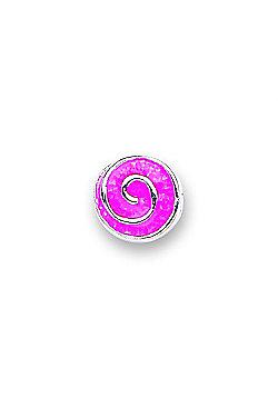 Jo For Girls Pink Swirl Slide On Bead