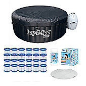 Bestway Lay-Z-Spa Miami & Platinum Starter Kit - Protector, Filters, Chemicals