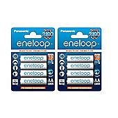 8 x Panasonic eneloop AA NiMH Rechargeable Batteries