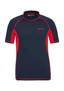 Mountain Warehouse Mens Rash Vest UPF50+ Sun Protection Factor 50+ Treatment - Blue