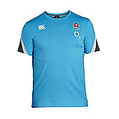 Canterbury England Rugby RFU Kids Cotton Training Tee 17/18 - Arctic - Blue