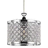 Modern Sparkly Ceiling Pendant Light Shade with Clear Beads