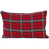 Homescapes Cotton Edward Tartan Scatter Cushion, 30 x 50 cm