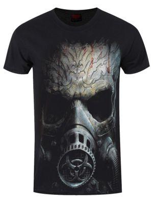 Spiral Bio Skull Men's Black T-shirt