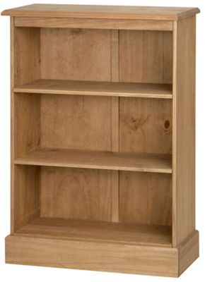Core Products Cotswold Low Waxed Pine Bookcase