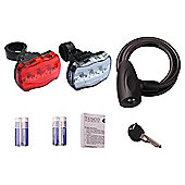 Bike Lock & Light Set