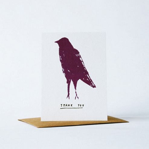 Yellow Owl Workshop Card - Thank You Bird
