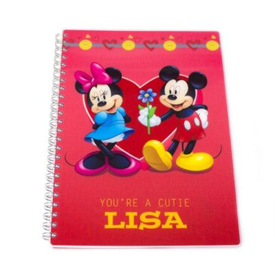 Mickey and Minnie Mouse Personalised Couples Notepad