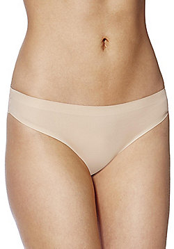 F&F Bonded Brazilian Briefs - Nude