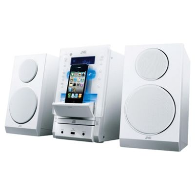 JVC Stereo Hi-Fi with Docking System White