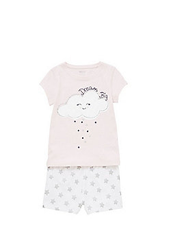 F&F Dream Big Slogan Pyjamas - Pink & White