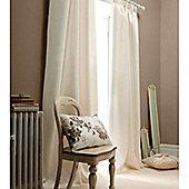 Catherine Lansfield Faux Silk Curtains 90x90 (229x229cm) - Cream
