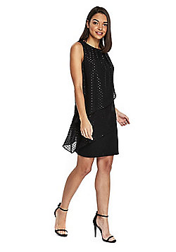 Wallis Petite Tiered Dress - Black