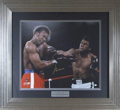 Signed Muhammad Ali Framed Large Print - Foreman Punch - Online Authentics