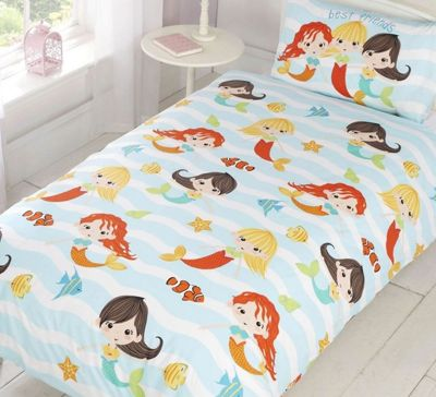 Mermaid Friends Toddler Bedding