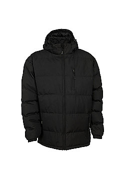 Trespass Mens Clip Padded Winter Jacket - Black