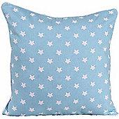Homescapes Cotton Blue Stars Cushion Cover, 45 x 45 cm