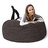Lounge Pug® Mammoth Bean Bag Sofa - Cord Graphite Grey