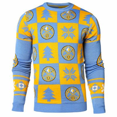 NBA Basketball Denver Nuggets Patches Crew Neck Sweater - M