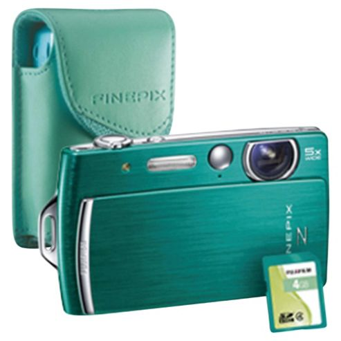 Fujifilm FinePix Z110 2.7 LCD Green Digital Camera Bundle with matching coloured case and 4GB memory card