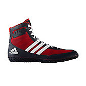 adidas Mat Wizard 3 Mens Adult Wrestling Trainer Shoe Boot Red/Navy - Red