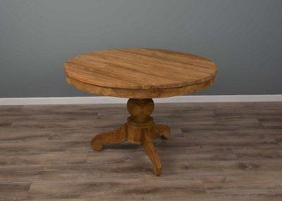 1.2m Reclaimed Teak Circular Pedestal Table