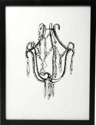 Hand printed chandelier print