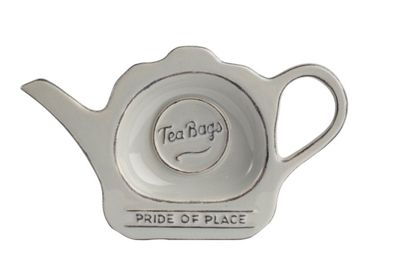 T&G Woodware Pride of Place Tea Bag Tidy in Cool Grey 18096