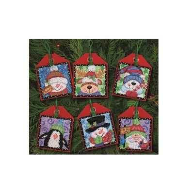 Dimensions Christmas Pals Ornaments Cross Stitch Kit (Set of 6)