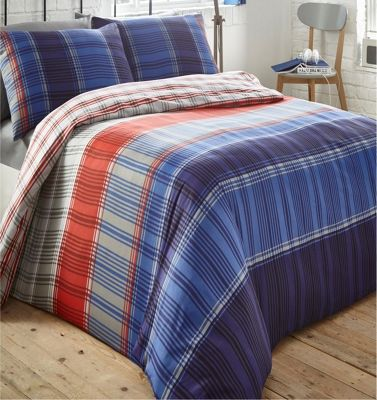 Radley duvet cover and pillowcase set - Red and blue - single