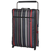 IT Luggage World's Lightest 2 wheel Large Black Violet Stripe Suitcase