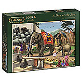 Falcon Games A Day at The Zoo Jigsaw Puzzle (1000-Piece, Multi-Colour)
