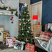 6ft Slender Alpine Fir Green Christmas Tree