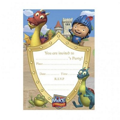 Mike the Knight 20pc Party Invitations Accessories