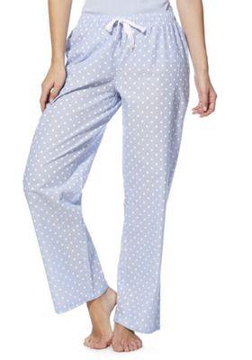 F&F Spot Print Woven Lounge Pants Blue 16-18