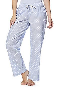 F&F Spot Print Woven Lounge Pants - Blue