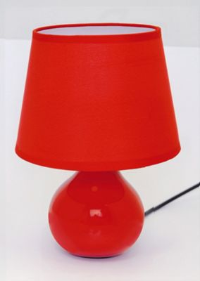 Home Essence Berry Ceramic 40W Table Lamp in Red
