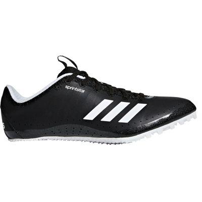 adidas Sprintstar Womens Running Spike Trainer Shoe Black/White - UK 3.5