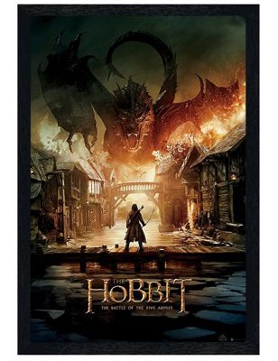 The Hobbit Black Wooden Framed The Battle Of The Five Armies Poster