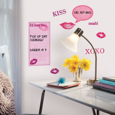 Dry Erase Kisses Wall Stickers
