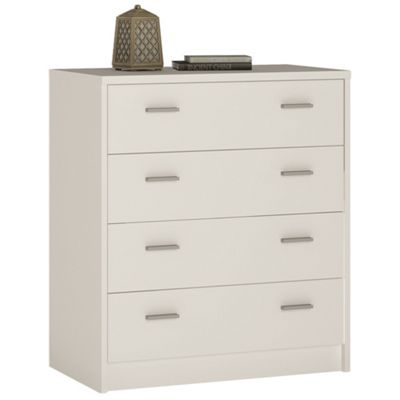 Kensington 4 Drawer Chest Pearl White