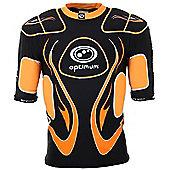 Optimum Inferno Pads Black / Orange X / Large