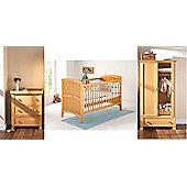 East Coast Venice 3 Piece with Sprung Mattress Nursery Room Set (Antique)