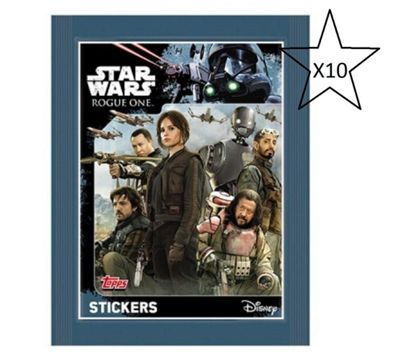 Topps Star Wars Rogue One Stickers - 10 Packs Supplied