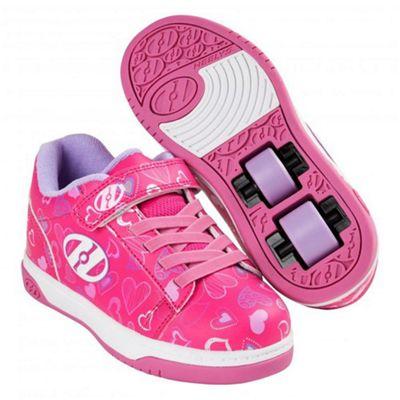 Heelys Dual Up Hot Pink/White/Hearts Kids Heely X2 Shoe JNR 11