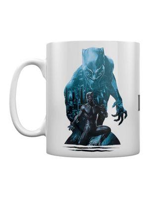 Black Panther City 10oz Ceramic Mug, White