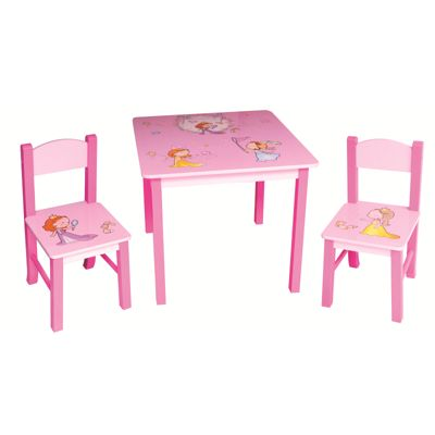 Princess Square Table & 2 Chairs Set
