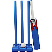 Woodworm Junior Plastic Cricket Set (Inc Bat, Ball And Stumps) - Garden Or Beach