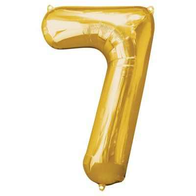 Gold Number 7 Balloon - 34 inch Foil