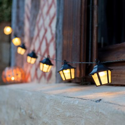 10 Warm White LED Lantern Solar Garden Fairy Lights